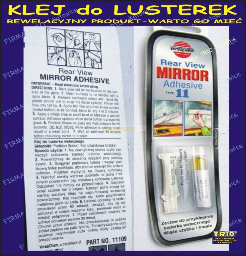 Klej do lusterek Mirror Adhesive 11